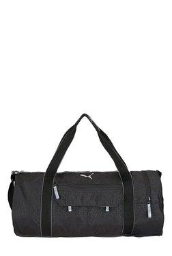 Puma Fit AT Black Printed Polyester Gym Bag