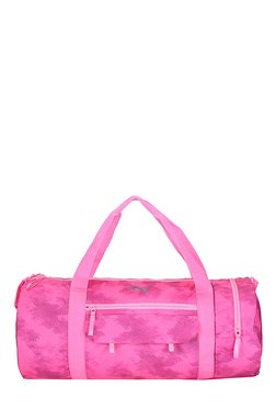 Puma Fit AT Knockout Pink Printed Polyester Gym Bag