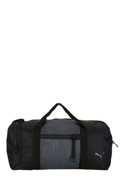 Puma Combat Swan Black & Grey Solid Nylon Gym Bag