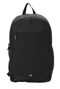 Puma Buzz Black Solid Polyester Backpack 62a22ba81b0de
