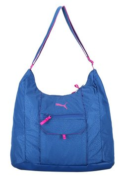 Puma Fit AT True Blue Printed Polyester Hobo Shoulder Bag
