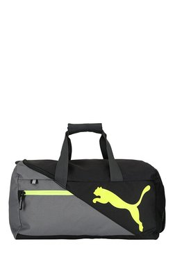 Puma Fundamentals Quiet Shade & Black Color Block Gym Bag