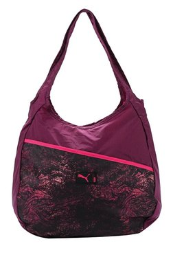 Puma Studio Purple & Love Potion Printed Hobo Shoulder Bag