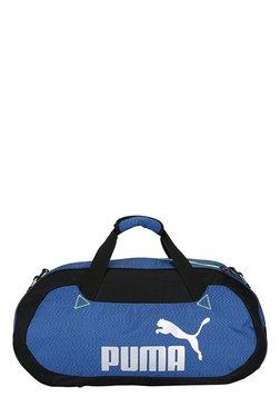 Puma Active TR True Blue & Black Solid Polyester Gym Bag