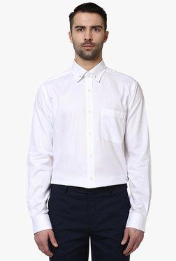 Raymond White Cotton Full Sleeves Slim Fit Cotton Shirt