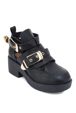 Truffle Collection Bold Black Casual Shoes