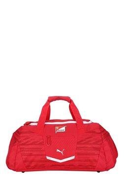 Puma Ferrari Replica Rosso Corsa Printed Polyester Gym Bag