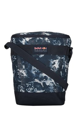 Puma RBR Lifestyle Navy & White Printed Polyester Sling Bag
