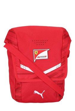 Puma Ferrari Replica Rosso Corsa Printed Polyester Sling Bag