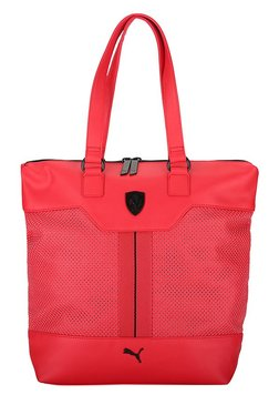 Puma Ferrari LS Rosso Corsa Perforated Laptop Tote