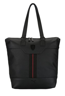 Puma Ferrari LS Black Perforated Laptop Tote