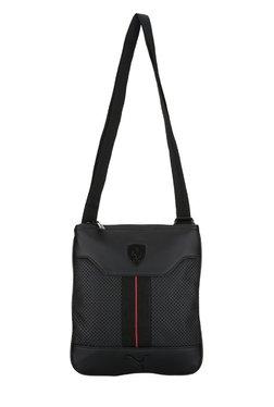 Puma Ferrari LS Black Perforated Sling Bag