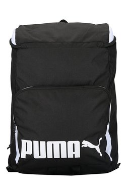 Puma Sole Black & White Solid Polyester Laptop Backpack - Mp000000002063590