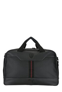Puma Ferrari LS Black Perforated Messenger Bag