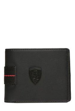 Puma Ferrari LS Black Solid Bi-Fold Wallet