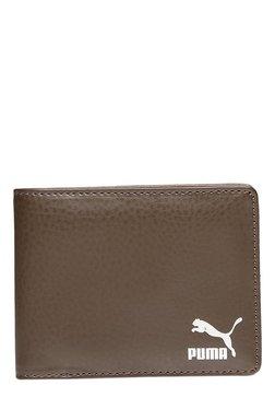 Puma Originals Chocolate Brown Solid Bi-Fold Wallet