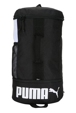 Puma Sole Black & White Solid Polyester Laptop Backpack