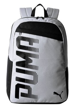 f0481e6ac20d Puma Pioneer Quarry Grey Solid Polyester Laptop Backpack