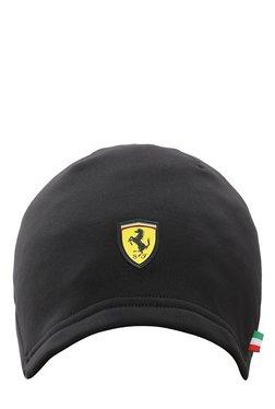 Puma Ferrari Fanwear Black Solid Polyester Slick Heather Cap