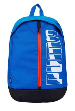 9669373815 Puma Pioneer Lapis Blue Solid Polyester Laptop Backpack at Rs. 649