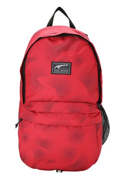 bb6102e963b3 Puma Academy Toreador Red Printed Polyester Laptop Backpack