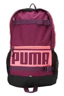 3456a392f338 Puma Deck Purple Solid Polyester Laptop Backpack