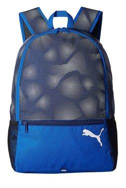 Puma Alpha Lapis Blue Printed Polyester Laptop Backpack