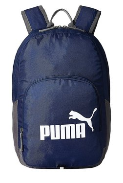 c668ee67039b Puma Phase Navy   Grey Solid Polyester Backpack