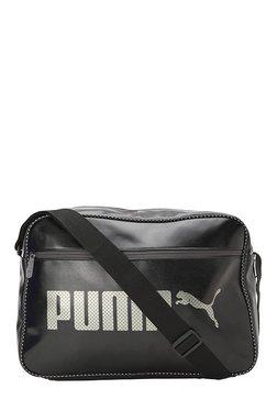 1497deac7413 Puma Campus Reporter Black Solid Laptop Messenger Bag