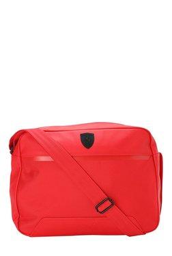 Puma Ferrari LS Reporter Rosso Corsa Laptop Messenger Bag