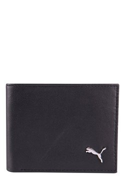 e012eeb9581b Puma Black Solid Leather Bi-Fold Wallet