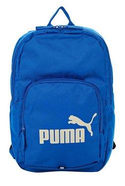 8efa2f868685 Puma Phase Lapis Blue Solid Polyester Backpack