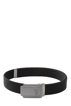 Puma Ferrari Fanwear Black Solid Polyester Narrow Belt