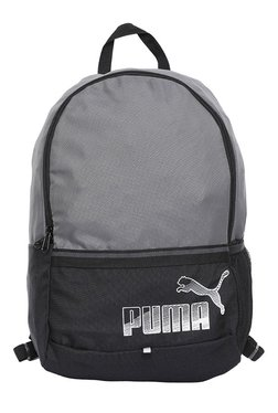 Puma Phase Black   Quiet Shade Color Block Backpack 266b5a760a1d4