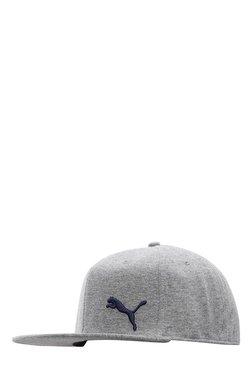 Puma Grey Heather Solid Cotton Baseball Cap