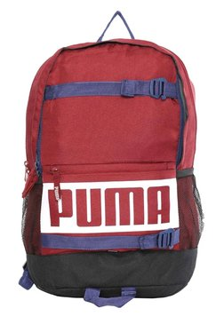 c0438e3952 Puma Deck Tibetan Red Solid Polyester Laptop Backpack