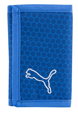 Puma Echo Lapis Blue Printed Polyester Tri-Fold Wallet
