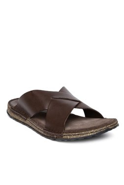 Ruosh Dark Brown Casual Sandals