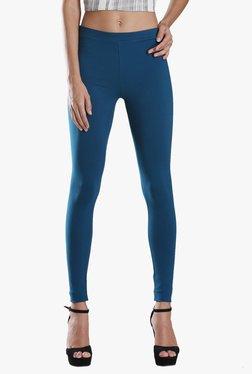 W Blue Cotton Leggings