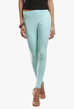 W Turquoise Cotton Leggings