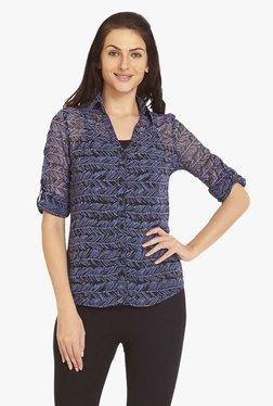 Blush By PrettySecrets Purple Printed Polyester Shirt