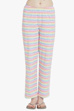 Blush By PrettySecrets Pink & Blue Striped Cotton Pyjamas