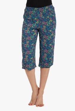 Blush By PrettySecrets Blue Printed Cropped Pyjamas