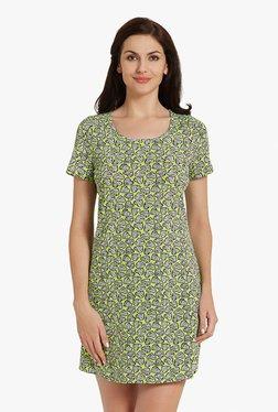 Blush By PrettySecrets Green Heart Print Cotton Sleepshirt