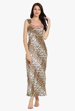 Blush By PrettySecrets Brown Printed Nightdress