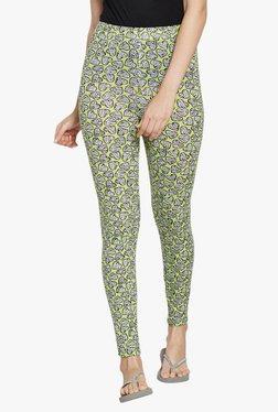 Blush By PrettySecrets Green Heart Print Cotton Leggings