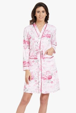 Blush By PrettySecrets Pink Floral Print Chemise With Wrap