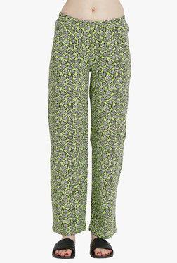 Blush By PrettySecrets Green Printed Pyjamas