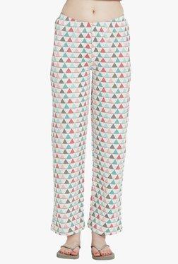 Blush By PrettySecrets White Printed Pyjamas