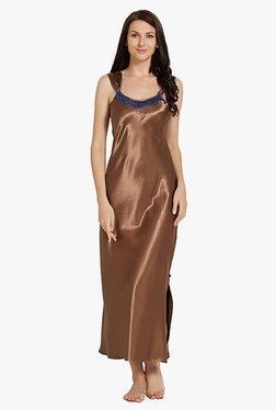 Blush By PrettySecrets Brown Polyester Nightdress